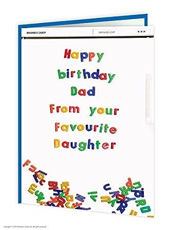 Amazon.com: BrainBox Candy Funny Humor hija Dad favoritos ...