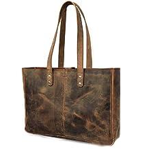 KK's Leather Genuine Soft Buffalo Leather Tote Bag Elegant Shopper Shoulder Bag SALE Leather Bags Leather tote bags leather women bags leather travel bags leather leather fashion tote women handbags