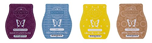 Scentsy Bar 4-Pack (Black Raspberry Vanilla, Baked Apple Pie, Luna, Coconut Lemongrass) from Scentsy