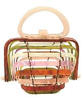 BOKPLD Acrylic Lilleth Clutch Collapsible Tote Bag Top Handle Handbag … (Multi)