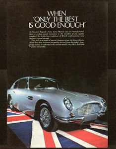 Mugs N More Metal Wall Art Plate Featuring Aston Martin Advert