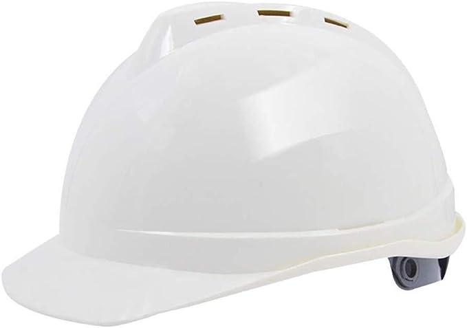 GHMHJH Casco De Seguridad Laboral, Casco De Protección Industrial ABS, Casco De Alta Resistencia Transpirable De Construcción Laboral (4 Colores Disponibles) (Color : White): Amazon.es: Hogar