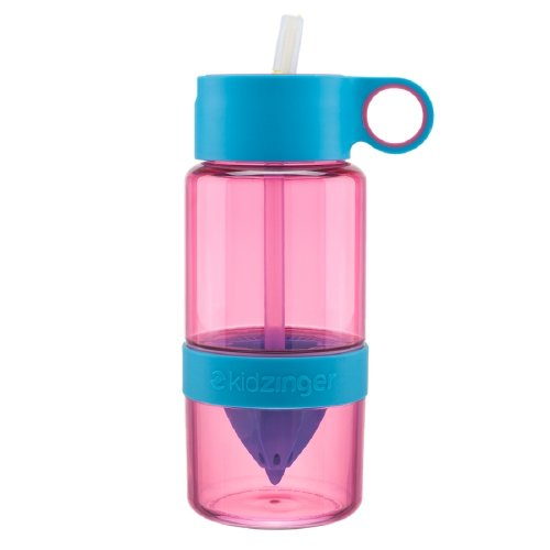 Kid Zinger Water Bottle Infuser, Pink, 16 oz