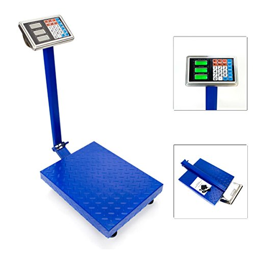660lbs / 300kg Weight Computing Digital Floor Platform Bench Scale LB KG | Post Office Shipping Food Agriculture Textiles Livestock Weighing Weigh Balance by Eosphorus