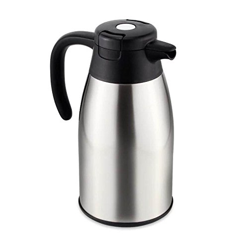 Linkeria 54 Oz(1.6L)Coffee Tea Thermal Carafe/ Stainless Steel 304 Double Walled Vacuum Insulated Thermos with Leak Proof Lid /Drink Container with High Quality Temperature Retention by Linkeria