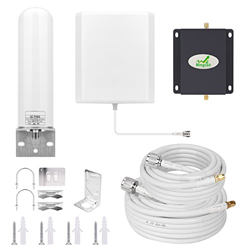 Cell Phone Signal Booste Amplifier Repeater T-Mobile Metro PCS AWS AT&T 3G 4G LTE 1700Mhz Band 4 Mobile Phone Signal Booster for Home Use Mingcoll (B17-LMS)