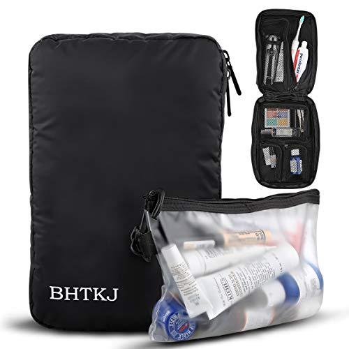 BHTKJ Hanging Toiletry Bag for Men and Women, Waterproof Dopp Kit Mens Toiletry Travel Bag