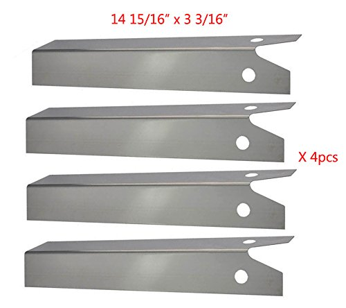 SP0151(4-pack) Stainless steel Heat Plate/ Heat Shield for Great Outdoors, Uniflame Grills, and Other Model Grills