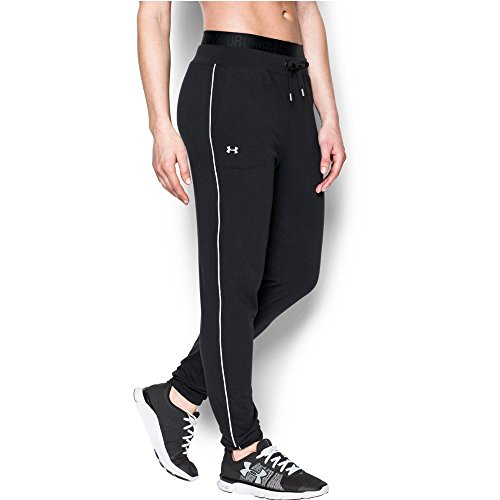 Under Armour Women's Favorite Slim Leg Jogger Pant, Black/White, X-Large