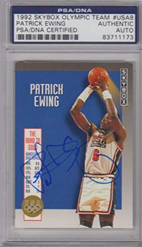 - Patrick Ewing USA DREAM TEAM Signed AUTOGRAPH 1992 SkyBox Olympic Team - PSA/DNA Certified - Basketball Autographed Cards