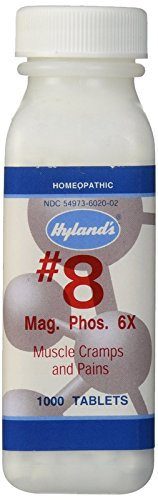 Hyland's Cell Salts #8 Magnesia Phosphorica 6X Tablets, Natural Homeopathic Relief of Muscle Cramps and Pains, 1000 Count