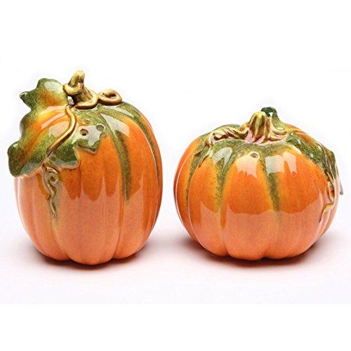 Orange Pumpkin Shape Design Salt and Pepper Shaker Collectible by CG