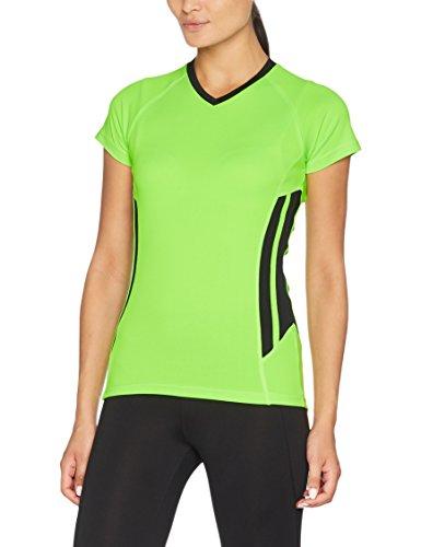 KUSTOM KIT, Camisa de Deporte para Mujer Green (Flourescent Lime/Black)