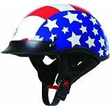 TORC T53 Black Hills Half Helmet with Homeland Graphic (White, Medium)