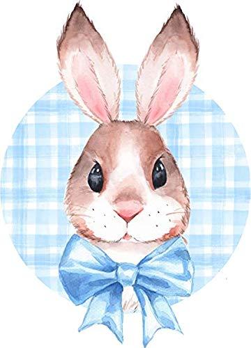 Magnet Cute Happy Watercolor Art Animal - Easter Bunny Rabbit Vinyl Magnet (4