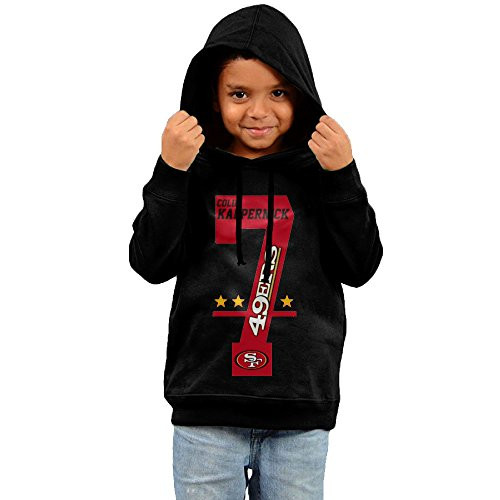 2016 NFL Colin Kaepernick # 7 Hoodies Lightweight Black Pullover Hoodie For Your Child