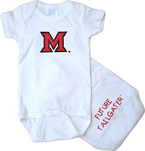 Onesie Cotton Ohio (Future Tailgater Miami Ohio Redhawks FT Baby Onesie (3-6 Months))