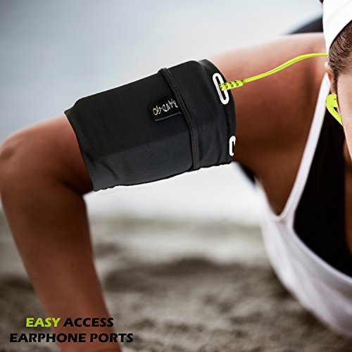 Universal Sports Armband for all Phones. Exercise Arm Holder for Running, Fitness and Gym Workouts (iPhone X/8/7/6/Plus,Samsung Galaxy S9/S8/S7/S6/Edge/Plus & LG,Huawei,Google,Sony & More). Medium by Revere Sport (Image #2)