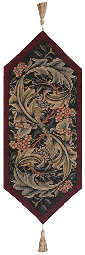 William Morris Red French Tapestry Table Runner