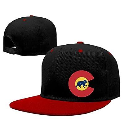 Usa Colorado Flag Chicago Bear Adjustable Hats Flat Bill Hip-Hop Cap