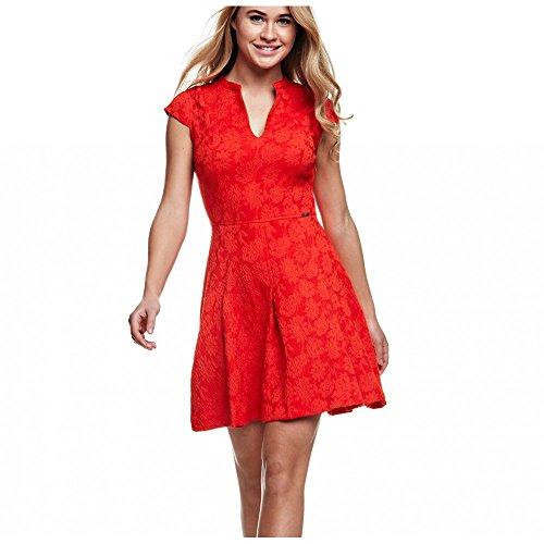 Guess Pauline Dress - W63k45w7kj0-vestido Mujer Rojo rosso X-Large