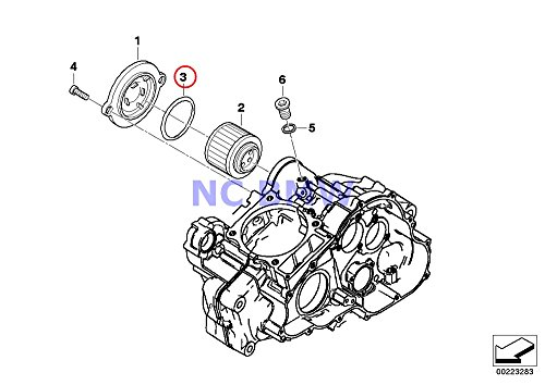 BMW Genuine Motorcycle Oil Filter O-Ring 59.52X2.62 G650 Xcountry G650GS G650GS Sertao (Bmw Motorcycle Oil Filter)