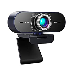 Flashandfocus.com 41PynQwecfL._SS300_ IFOAIR 1080P Webcam with Microphone, Pro Streaming Webcam for PC/Laptop/Smart TV, Light Correction Web Camera 110° for…