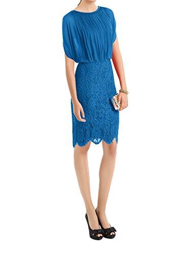 Etuikleider Blau Knielang Rot La U Braut Ausschnitt Abendkleider Marie Brautmutterkleider Dunkel Spitze gqnaPpznw