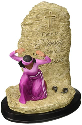 African American Figurine - African American Expressions - Power in the Name of Jesus Figurine (6.25
