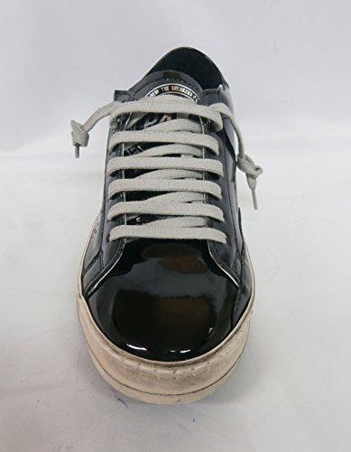 P448 sneaker donna bassa E6JHON black gloss nero lucido nr.35