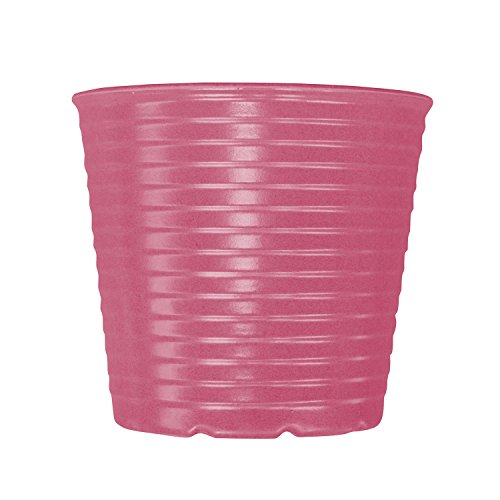 Plant Fiber (Flower Pot-7 Inch,Unbreakable Biodegradable Plant Containers with Drain Hole Made from Plant Fiber,Indoor Outdoor Garden Planters,Pink)