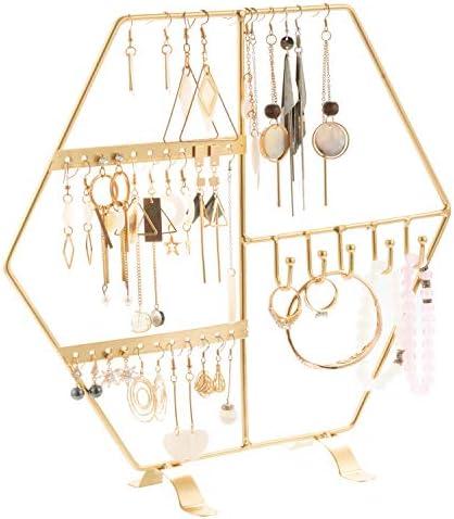 QILICZ Schmuckständer Schmuckhalter Ohrringhalter ohrring ständer - Schmuck Haken Organizer Display für Ohrringen, Ringen, Uhren und Armbändern 30x28.5cm