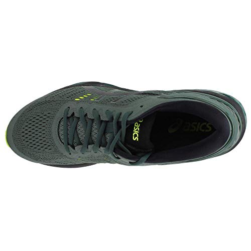 ASICS Men's Gel-Kayano¿ 24 Dark Forest/Black/Safety Yellow 6 D US by ASICS (Image #5)