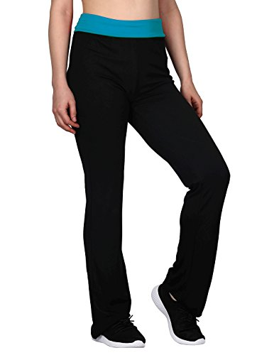 HDE Women's Maternity Yoga Pants Comfortable Lounge Pregnancy Pants Folded Waist...