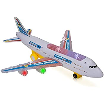 bump and go electric boeing 747 kids action airplane plane lights and sounds changes