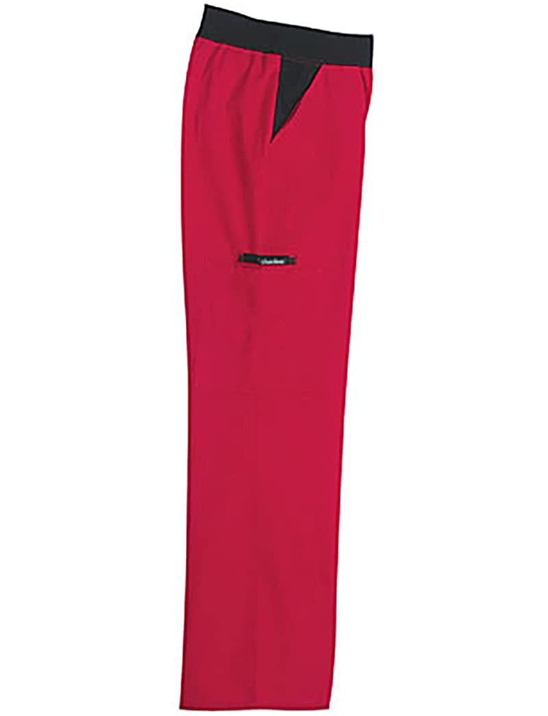 Cherokee Women's Flexibles Contrast Mid Rise Knit Waist Pull-On Pant 1031-B