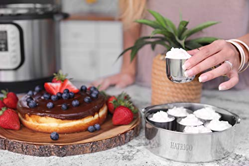 Cake Push Pan With Handle And Mini Cups For Egg Bites