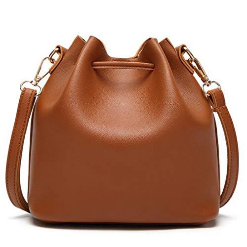 Kervinfendriyun Brown For Bucket Bag Crossbody Women color Pequeño Con Yy4 Drawstring Borla Monedero Bags Brown rZwtqxpr