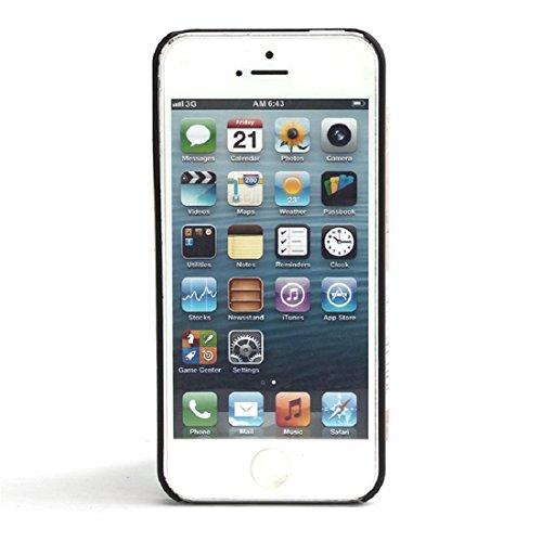 Sannysis Geschnitzte Weinlese-Traumfänger Campanula Hülle für das iPhone 5 5S (Schwarz)