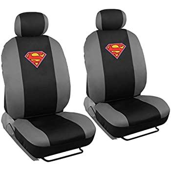 4 Pc Warner Brothers Superman Licensed Original Low Back Bucket Seat Covers