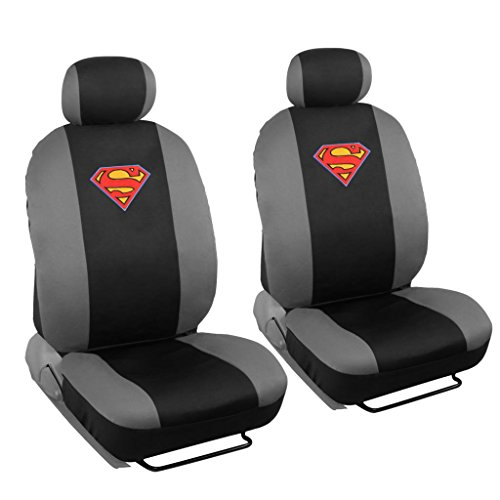 4 Pc Warner Brothers Superman Licensed Original Low Back Bucket Seat Covers (Superman Seat Covers For Cars compare prices)