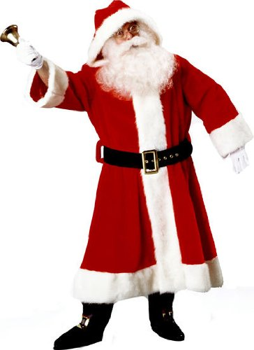 Old Man Costume Rich (Santa Claus Suit (Plush Old-Time) Christmas Costume Size)