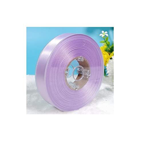 Satin Grosgrain Fabric Craft Ribbons Width 3/4 inch / 2cm Lavender/Light Purple 24 Yards for Wedding Artwork Home Gift Box Party Hair Bow Kindergarten Flower DIY Decoration (Lavender)