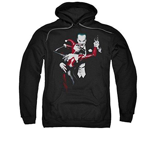 Batman DC Comics Harley Quinn And Joker Adult Pull-Over Hoodie -