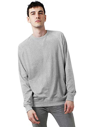 (Ma Croix Mens French Terry Crewneck Sweatshirt (Large, 1hc18_Heather Gray))