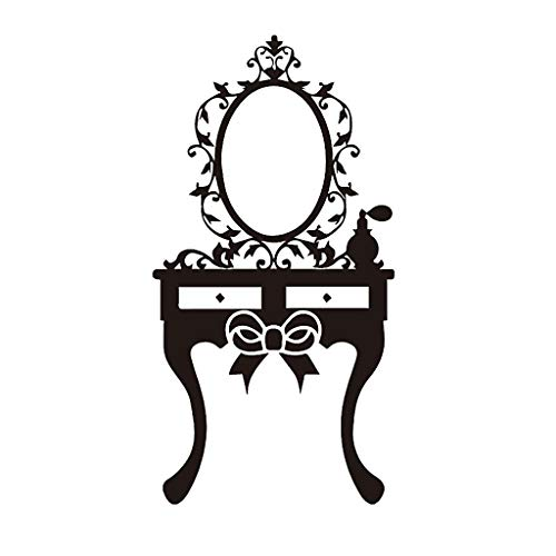 uaswguDFS Makeup Mirror Wall Sticker - Removable Mural, Vinyl Decal Art Sticker, Decor for Kids Bedroom or Birthday Gift, Beautiful Wall Decals for Any Room School