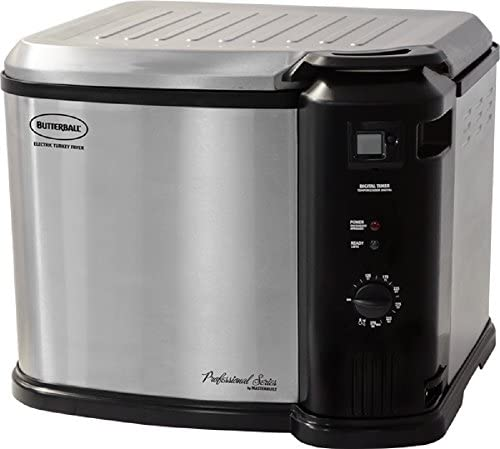 Masterbuilt Butterball XXL Digital Indoor Electric Turkey Fryer Largest Capacity, Newest Model Stainless Steel
