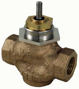 """Schneider Electric VB-7213-0-4-08 Series Vb-7000 Two-Way Globe Valve Body, Npt Threaded Straight Pipe End Connection, Stem Up Open, Brass Plug, 1"""" Port Size from Schneider Electric Buildings"""