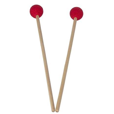 FLAMEER 1 Par de Marimba Stick Palos para Marimba Tambor ...