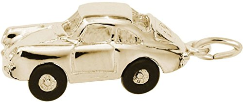Rembrandt Small German Sports Car Charm - Metal - Gold-Plated Sterling Silver